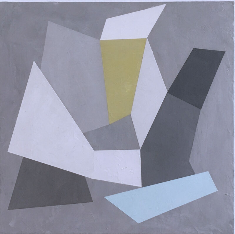 Kati Vilim, 'Habitat Fragmentation I', 2020, Painting, Plaster and acrylic on wood panel, Deep Space Gallery