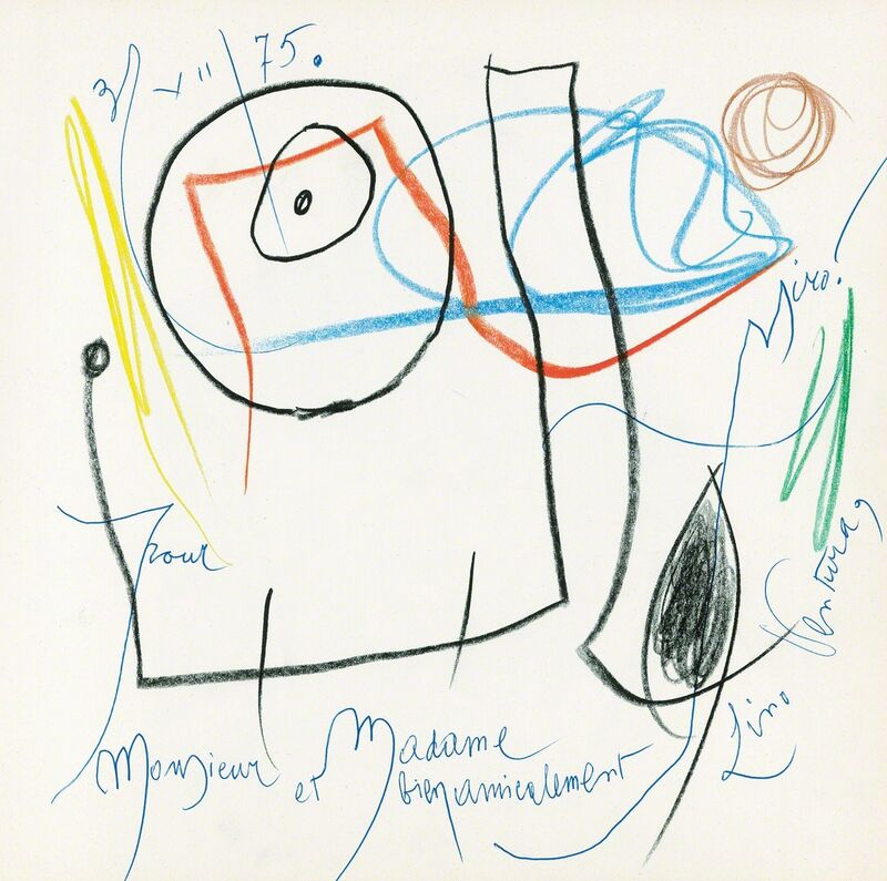 Joan Miró, 'untitled', 1975, Drawing, Collage or other Work on Paper, Book with wax crayon drawing, Galerie Boisseree