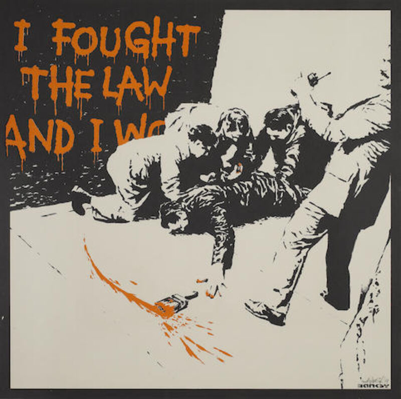 Banksy, 'I Fought The Law', 2004, Print, Screen-print in colors on wove paper, MoonStar Fine Arts Advisors