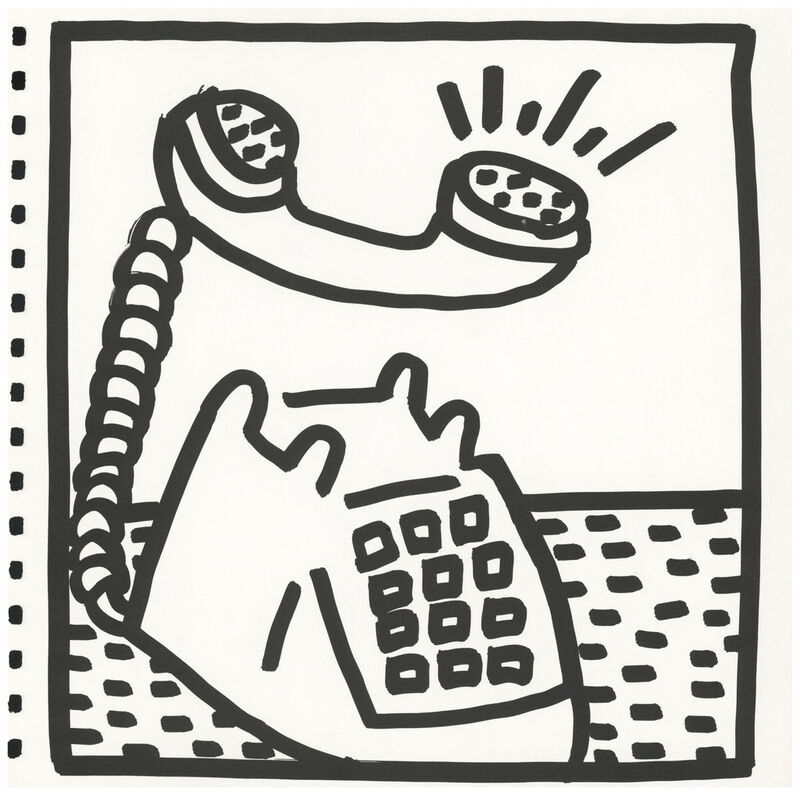 Keith Haring, 'Keith Haring (untitled) telephone lithograph 1982 ', 1982, Ephemera or Merchandise, Offset lithograph, Lot 180
