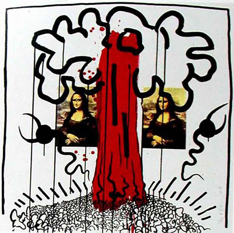 Keith Haring, 'Apocalypse 1', 1988, Print, Mixed Media, Kunzt Gallery