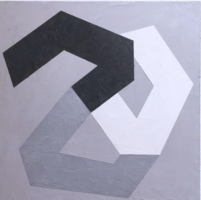 Kati Vilim, 'Options IV', 2019, Painting, Plaster and acrylic on wood panel, Deep Space Gallery