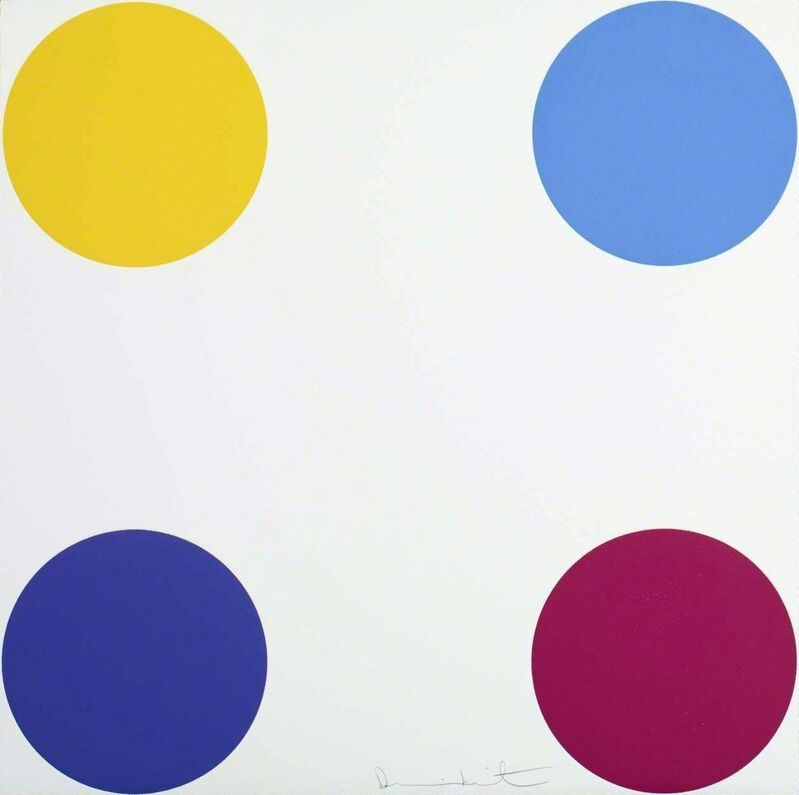 Damien Hirst, 'Maltohexaose', 2012, Print, A 2-inch spot woodcut printed on 410gsm Somerset White Paper, Avant Gallery
