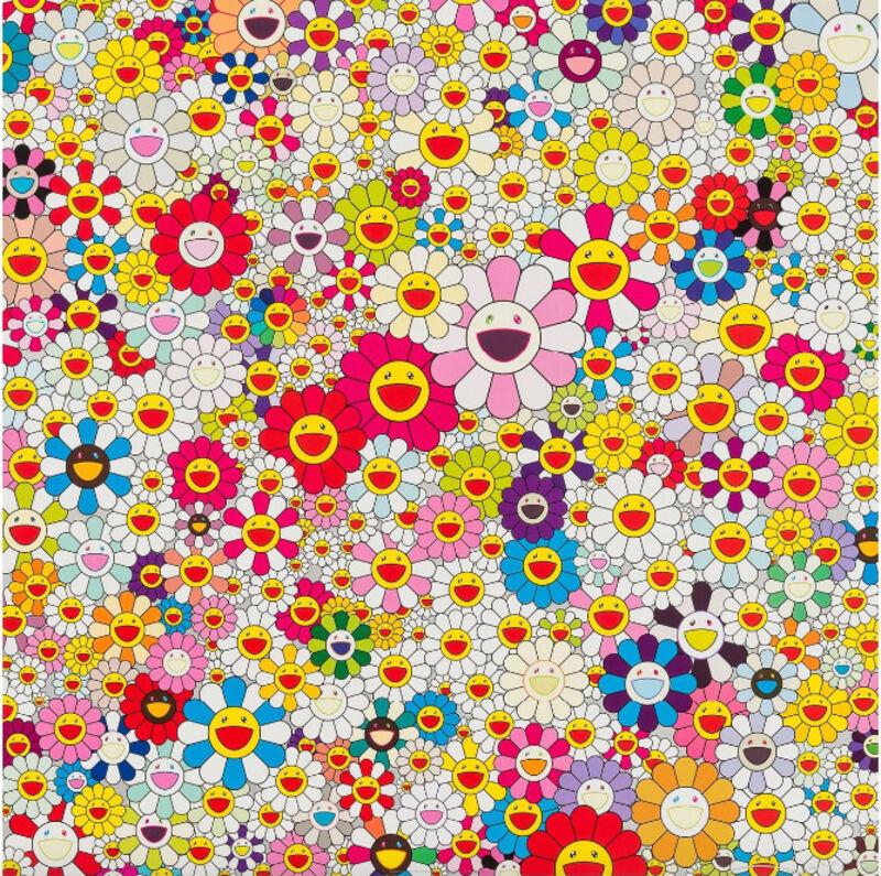 Takashi Murakami, 'Flowers in Heaven', 2010, Print, Offset lithograph in colors, on wove paper, Upsilon Gallery