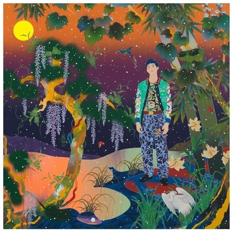 Tomokazu Matsuyama, 'River To The Bank', 2021, Print, Pigmentprint with screen print layers of high gloss varnish, color and pearlised ink on Somerset En Satin 330gsm paper, Curio