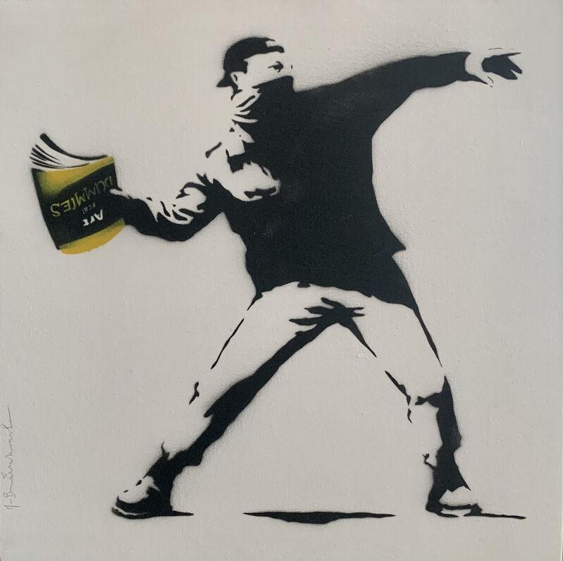 Mr. Brainwash, 'Banksy Thrower (15) ', 2015, Mixed Media, Stencil and Mixed Media on Canvas, Contessa Gallery