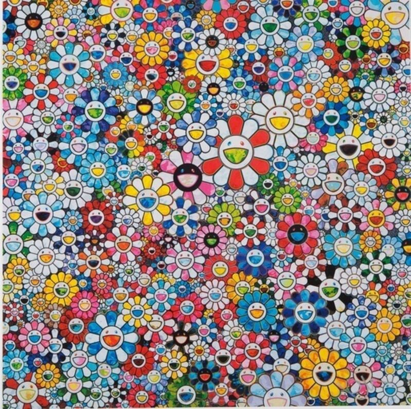 Takashi Murakami, 'Flowers with Smiley Faces', 2013, Print, Offset lithograph, Dope! Gallery