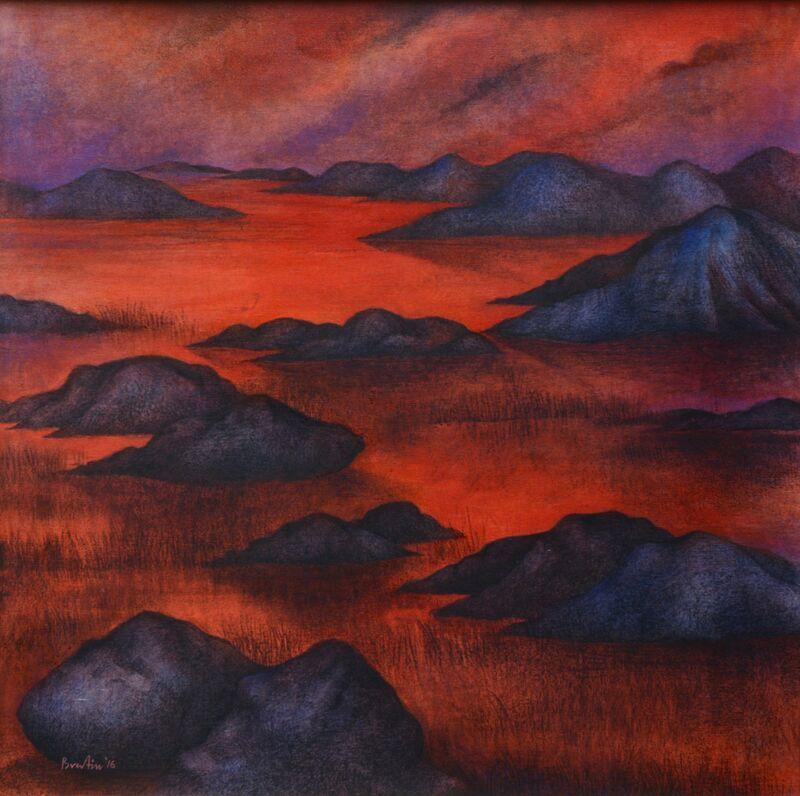 Bratin Khan, 'Untitled ', 2016, Painting, Tempera on canvas, Arushi Arts