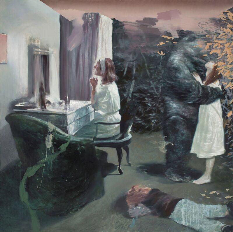 Lars Elling, 'Undivided Estate (that Dressing Room)', 2015, Painting, Eggoiltempera on canvas, Galleri Brandstrup