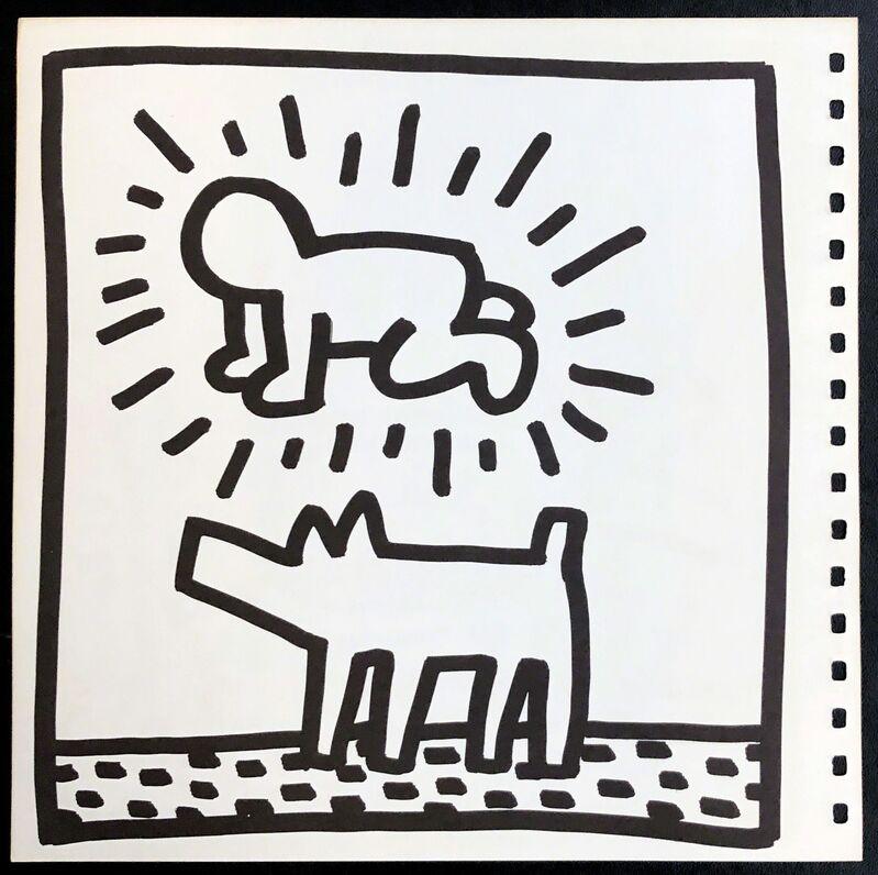 Keith Haring, 'Keith Haring (untitled) Radiant Baby lithograph 1982 (Tony Shafrazi)', 1982, Ephemera or Merchandise, Offset lithograph, Lot 180