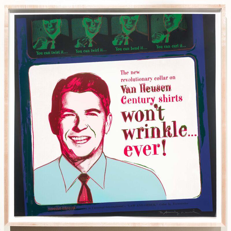 Andy Warhol, 'Van Heusen (Ronald Reagan), from Ads', 1985, Print, Silkscreen, Leslie Sacks Gallery