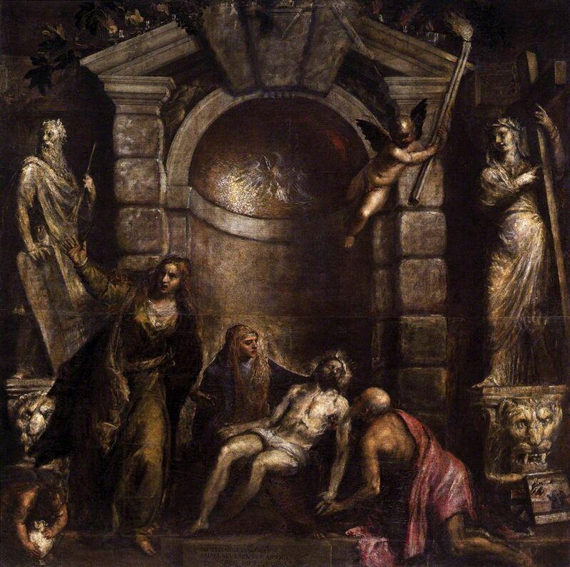 Titian, 'Pietà', ca. 1570-76, Painting, Oil on canvas, Art History 101
