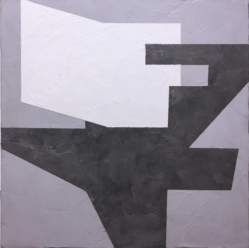 Kati Vilim, 'Balancing II', 2019, Painting, Plaster and acrylic on wood panel, Deep Space Gallery