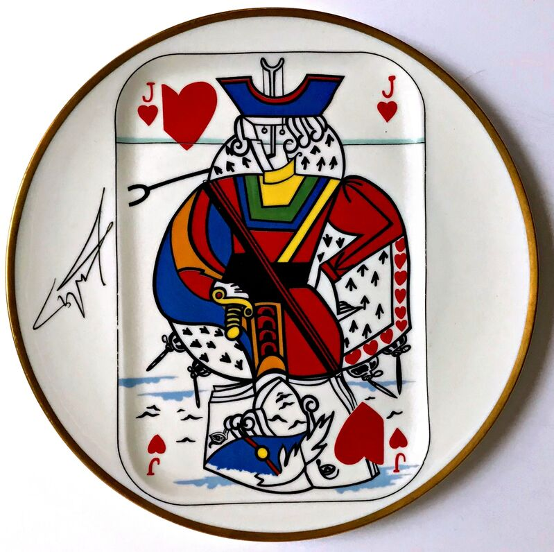 Salvador Dalí, 'Jack of Hearts ', 1967, Design/Decorative Art, Limited Edition Limoges Porcelain Plate. Signature Fired into Plate. Numbered with COA, Alpha 137 Gallery