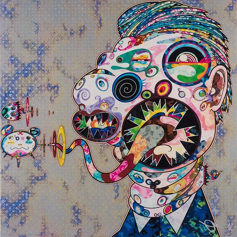Takashi Murakami, 'Homage to Francis Bacon, Study for Head of George Dyer', 2016, Print, Offset Lithograph, Pinto Gallery