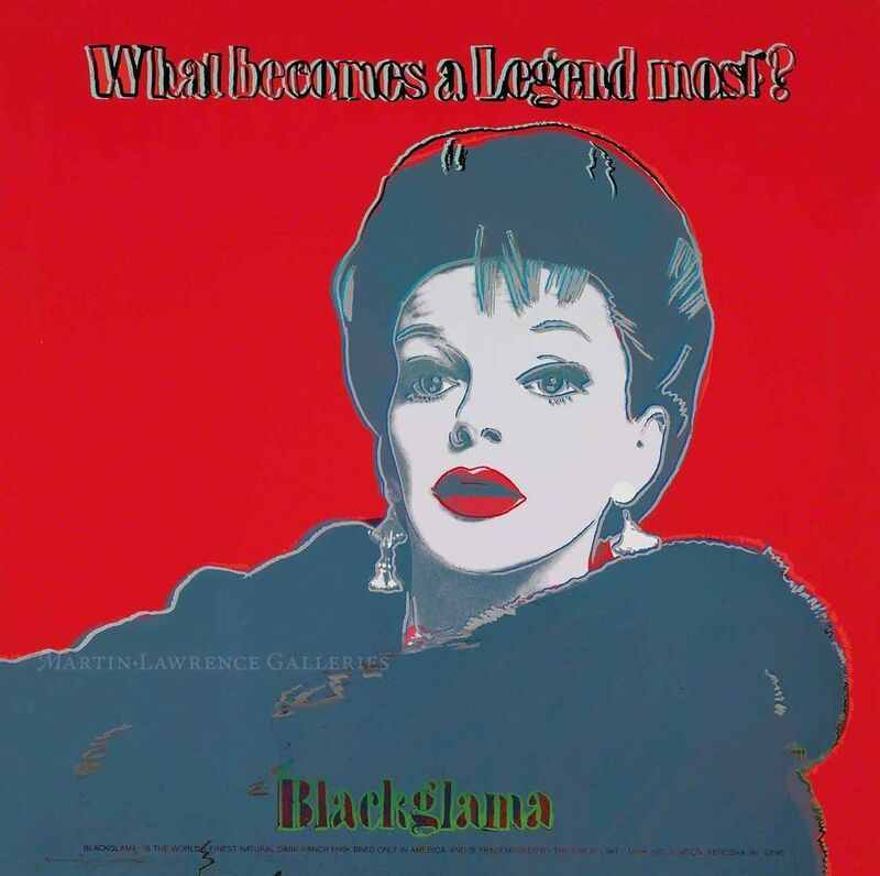 Andy Warhol, 'Blackglama, 1985 (#351, Ads) ', 1985, Print, Unique trial-proof hand-signed screenprint, Martin Lawrence Galleries