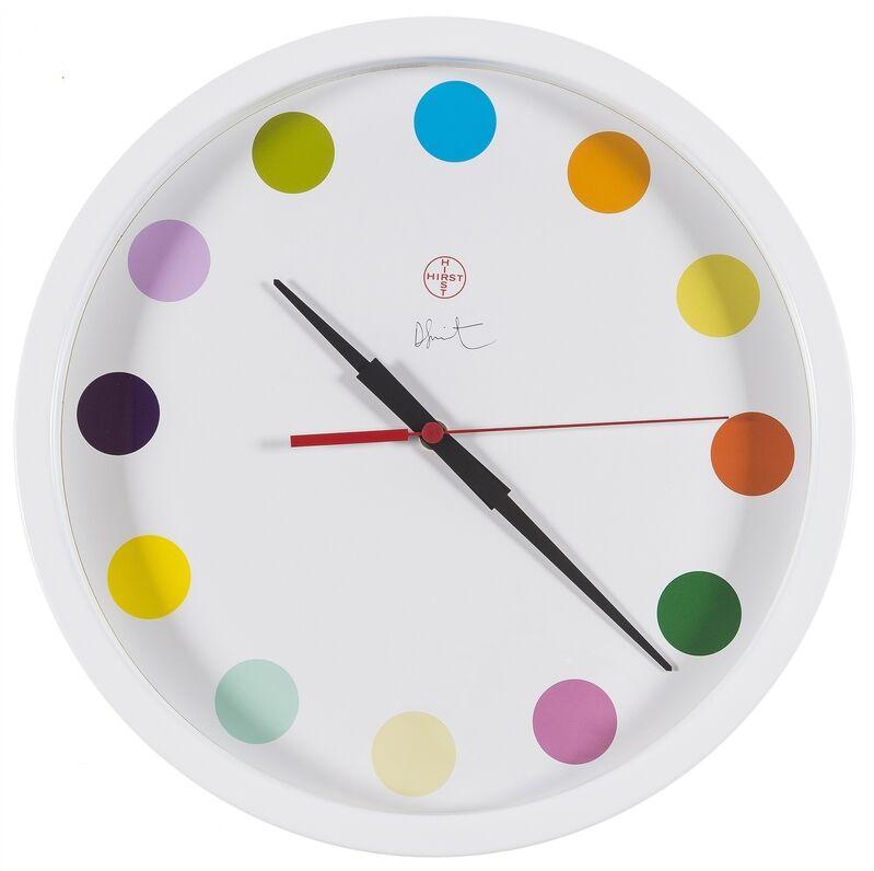Damien Hirst, 'Spot clock (Large)', 2019, Design/Decorative Art, White-powdered metal wall clock, Forum Auctions