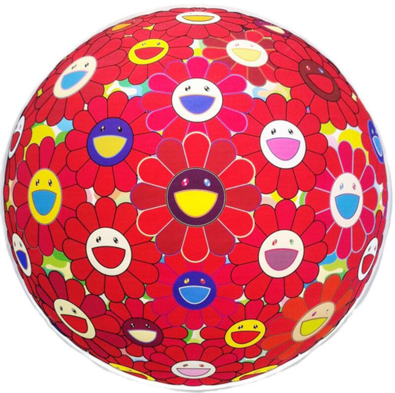 Takashi Murakami, 'Red Flower Ball (3D)', 2013, Print, Offset lithograph, Dope! Gallery