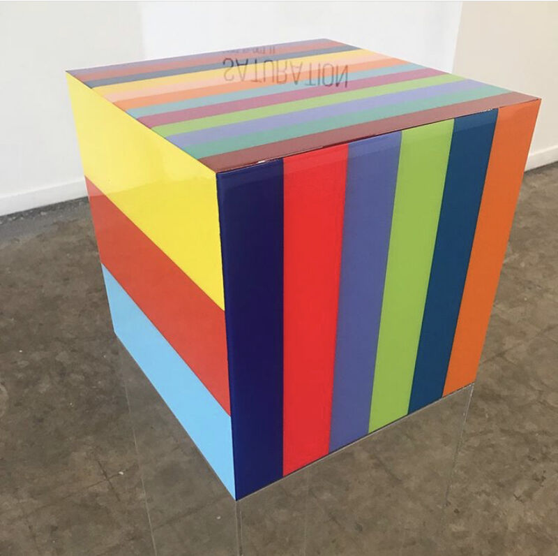 Heidi Spector, 'Our Love Song', 2019, Sculpture, Liquitex with resin on birch cube, bG Gallery