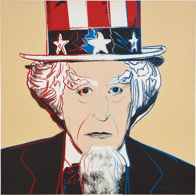 Andy Warhol, 'Uncle Sam, from Myths', 1981, Print, Screenprint in colors with diamond dust, on Lenox Museum Board, the full sheet., Phillips