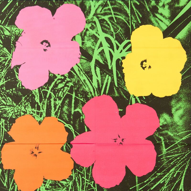 Andy Warhol, 'Flowers', 1964, Print, Offset lithograph in colors (mailer), Rago/Wright/LAMA