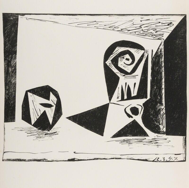 Pablo Picasso, 'Composition au verre a pied (Bloch 431; Mourlot 77)', 1947, Print, Lithograph, Forum Auctions