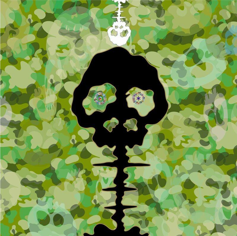 Takashi Murakami, 'TIME - camouflage moss green', 2009, Painting, Acrylic on canvas mounted on aluminum frame, Gagosian