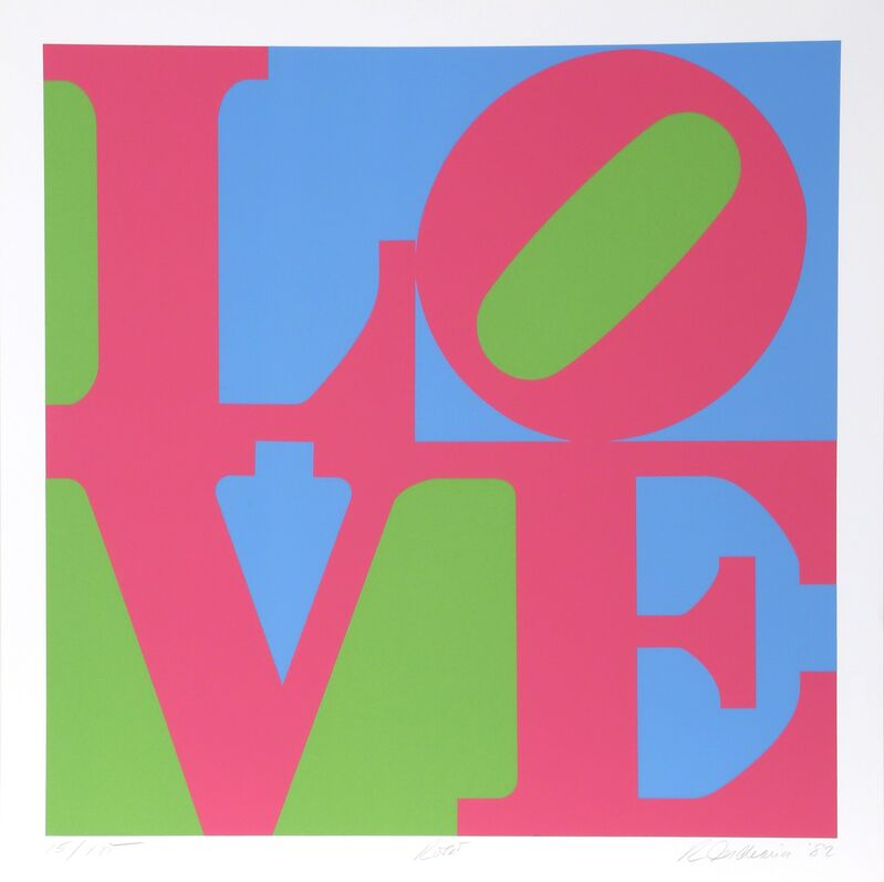 Robert Indiana, 'The Garden of Love (Suite of Six)', 1982, Print, Suite of Six Serigraphs on Fabriano Paper, RoGallery