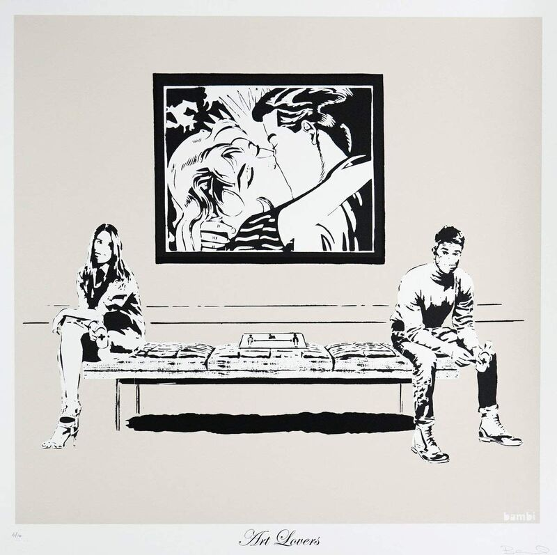 Bambi, 'Art Lovers', 2021, Print, Screenprint in two colours on Saunders Waterford 425gsm, Graffik Gallery Limited