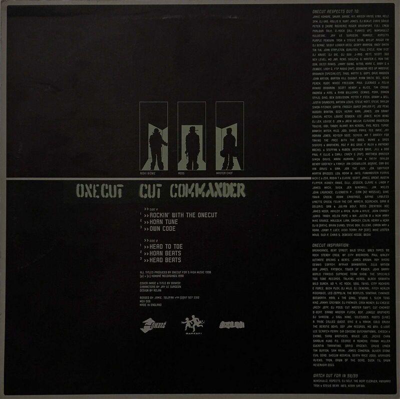 Banksy, 'One Cut Commander', 1998, Print, Screenprint in colors on record sleeve with (One Cut Commander vinyl album), 1998, Art Commerce