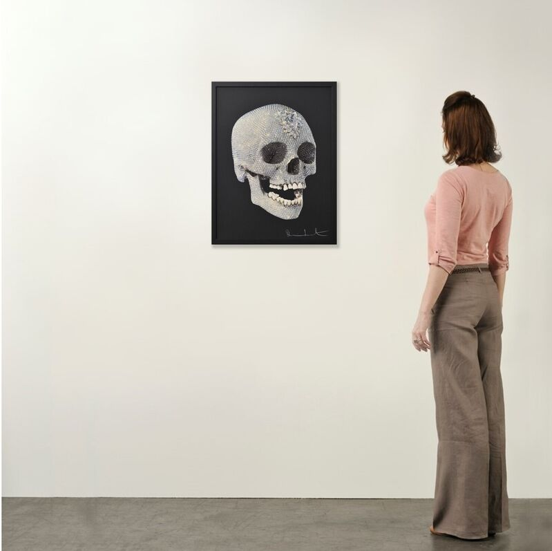 Damien Hirst, 'For the Love of God (Black)', 2010, Print, Silkscreen Print with Glaze on paper, Weng Contemporary