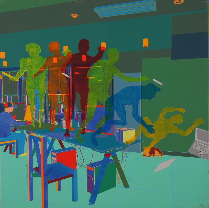 Miao Xiaochun 缪晓春, 'Blind', 2015, Painting, Acrylic on linen, Eli Klein Gallery