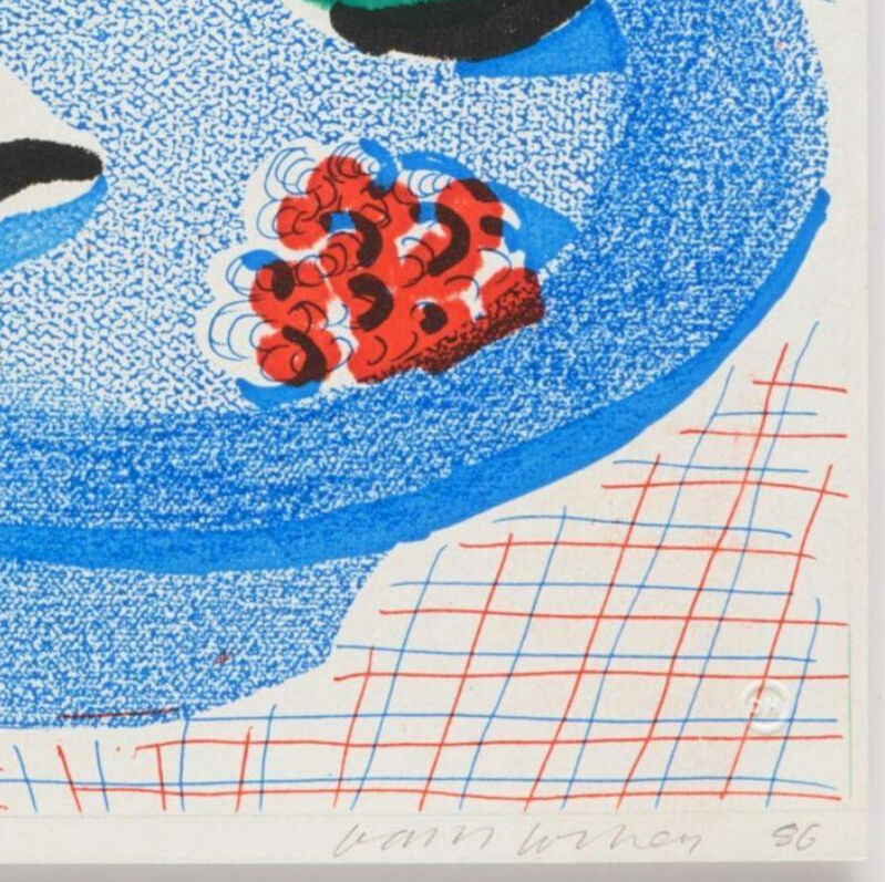David Hockney, 'The Round Plate, April 1986', 1986, Print, Home-made print on Arches rag paper in custom oval frame, Goya Contemporary/Goya-Girl Press