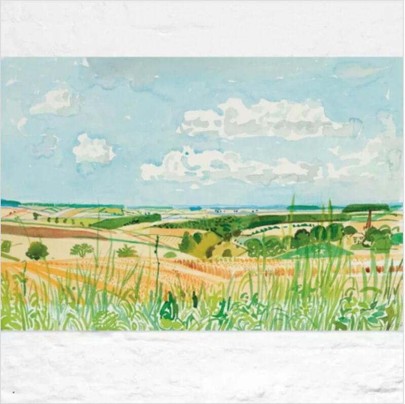 David Hockney, 'Looking Towards Huggate', 2004, Print, Accent Fresco (Gesso), textured uncoated paper, manufactured from 100% ECF virgin (Elemental Chlorine Free) fibre. FSC Certified. Acid Free, Modern-Originals