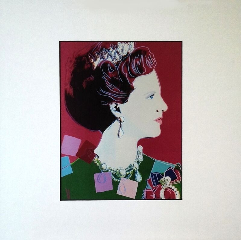Andy Warhol, 'Andy Warhol Portraits Reigning Queens - Queen Margrethe Of Denmark', 1987, Print, Colour Offset Print, Art276