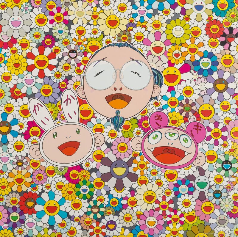 Takashi Murakami, 'Me and Kaikai and Kiki', 2009, Print, Offset lithograph in colors on satin wove paper, Heritage Auctions