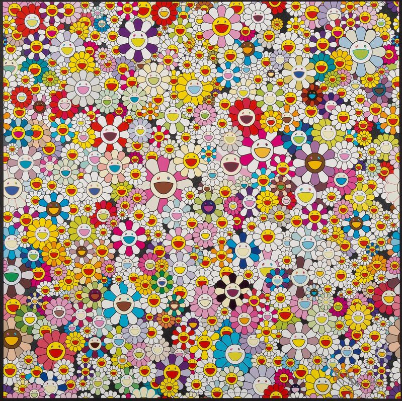 Takashi Murakami, 'Flowers Blooming in the World and the Land of Nirvana', 2013, Print, Offset lithograph in colors on paper, Heritage Auctions