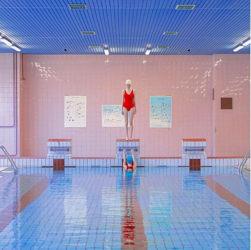 Maria Svarbova, 'Hidden Swimmer', 2018, Photography, Archival Pigment Print, Contessa Gallery
