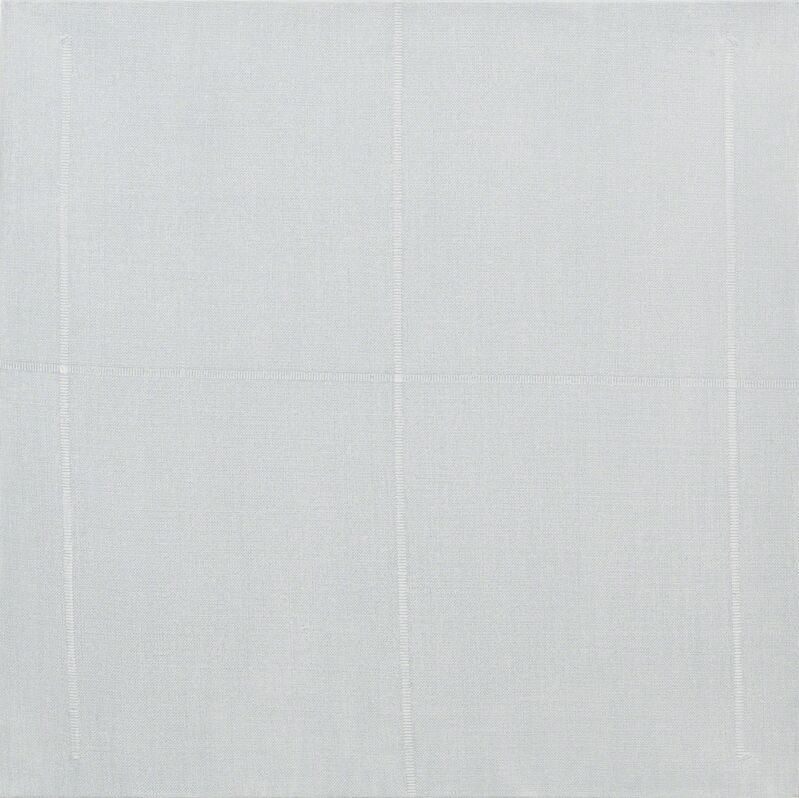 Edda Renouf, 'Traces-1 ', 2012, Painting, Acrylic on linen, removed threads, Annely Juda Fine Art