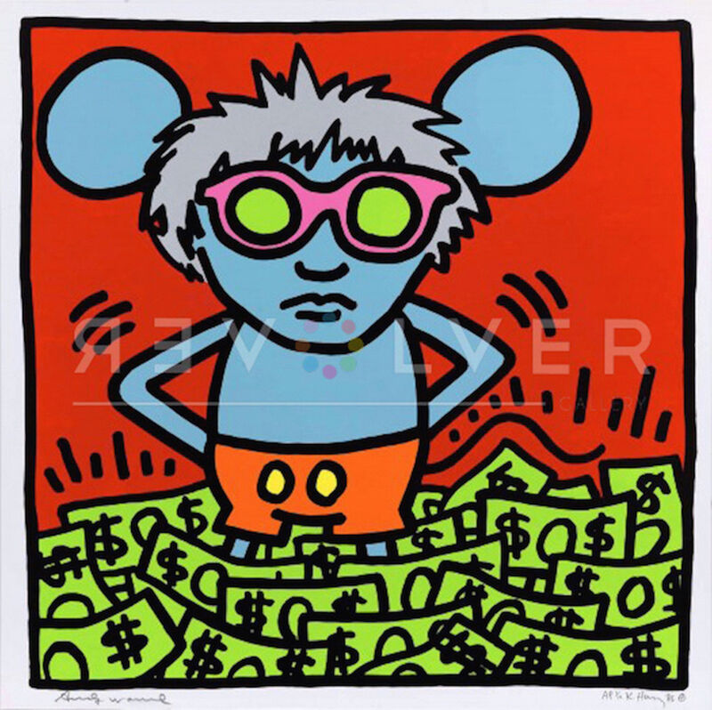 Andy Warhol, 'Andy Mouse (Dollar Bills) ', 1986, Print, Screenprint on Lenox Museum Board.with Diamond Dust, Revolver Gallery