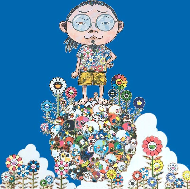 Takashi Murakami, 'Me Among The Supernatural', 2013, Print, Offset print with silver, Pinto Gallery
