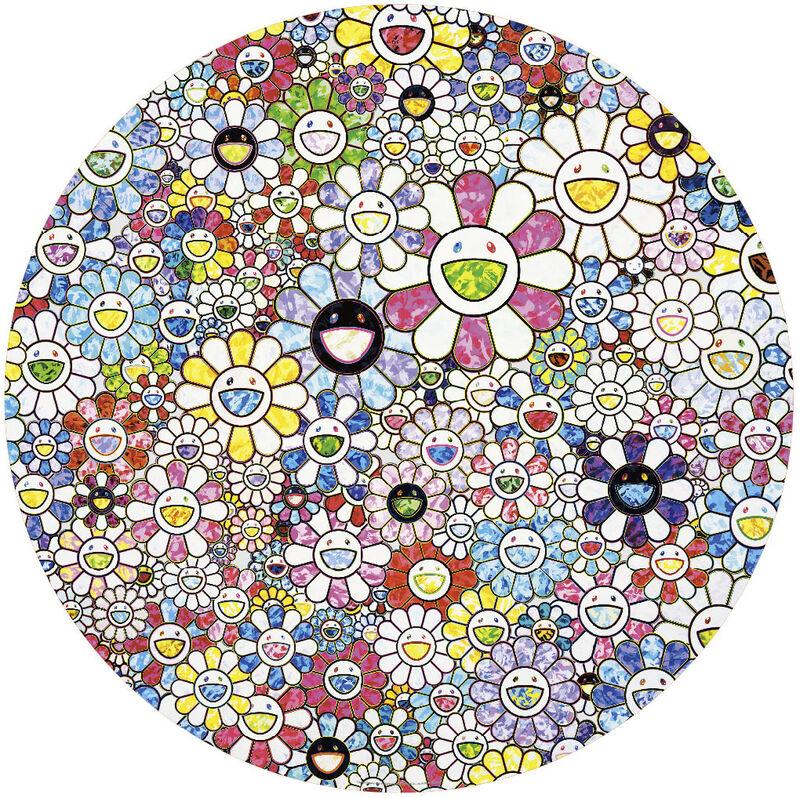 Takashi Murakami, 'Celesital Flowers', 2020, Print, Offset print with cold stamp, Pinto Gallery