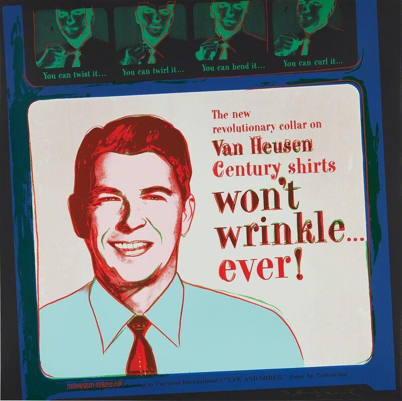Andy Warhol, 'Van Heusen (Ronald Reagan), from Ads', 1985, Print, Screenprint in colors, on Lenox Museum Board, the full sheet., Phillips