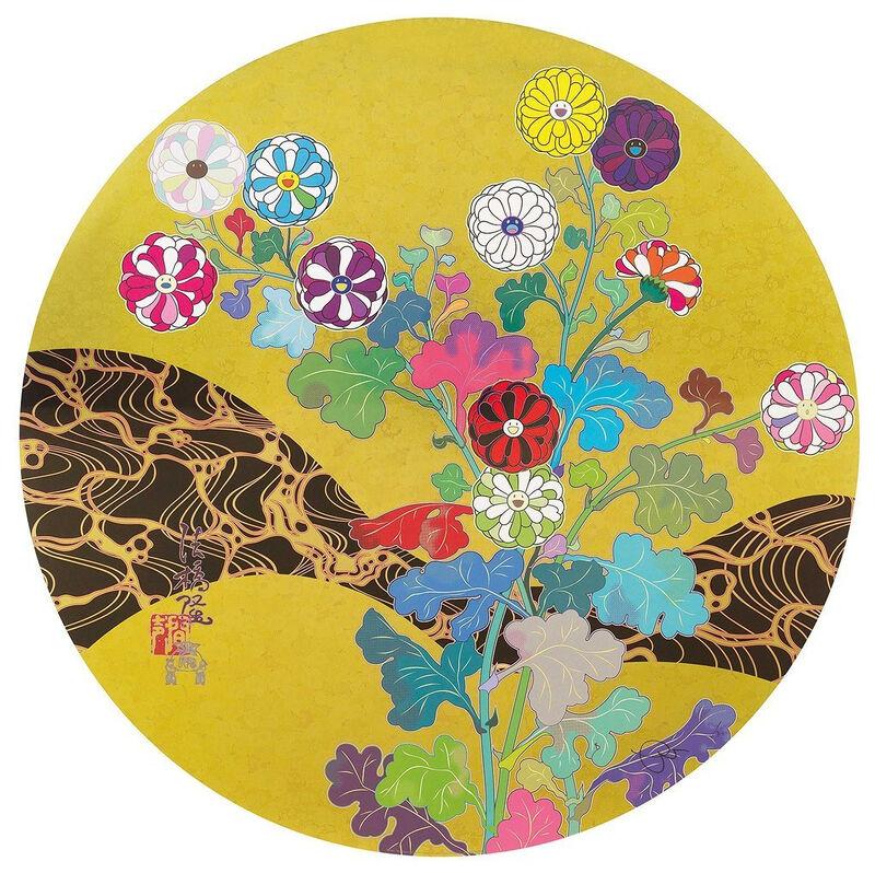 Takashi Murakami, 'Kansei: The Golden Age', 2014, Print, 4c offset w/cold stamp + spot varnishing, Pinto Gallery