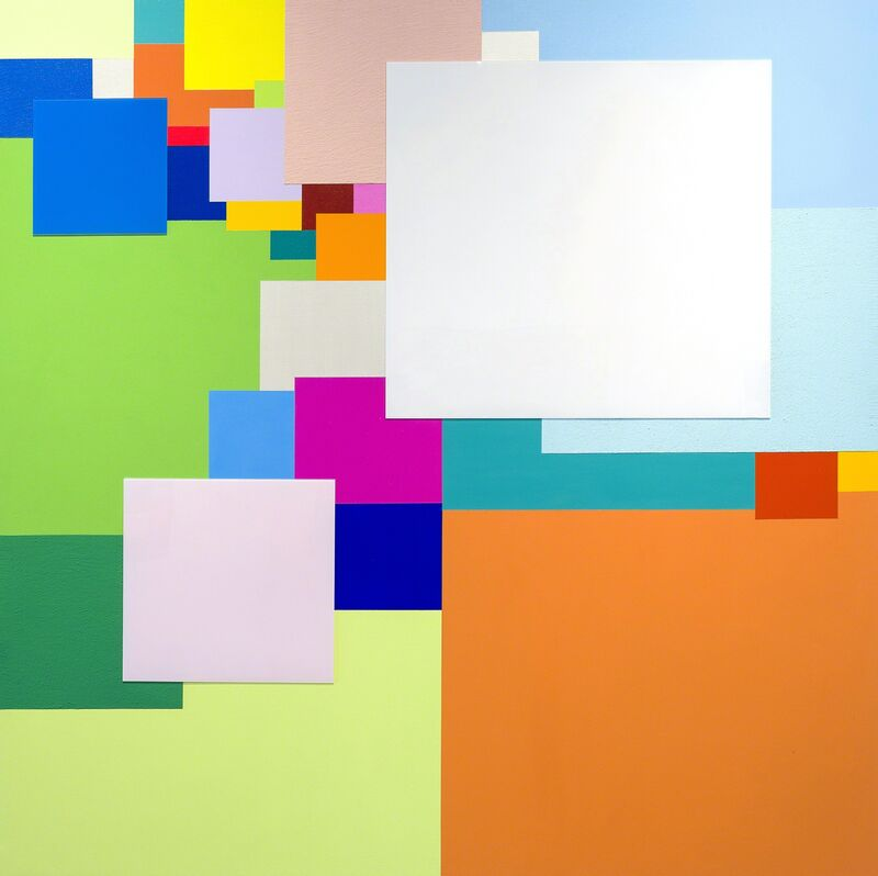 Marco Casentini, 'The Big Green', 2013, Painting, Acrylic and plexiglas on canvas, Brian Gross Fine Art