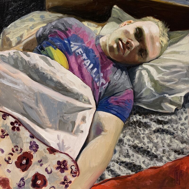 Ellen Starr Lyon, 'Metallica Tie Dye', 2020, Painting, Oil on panel, 33 Contemporary