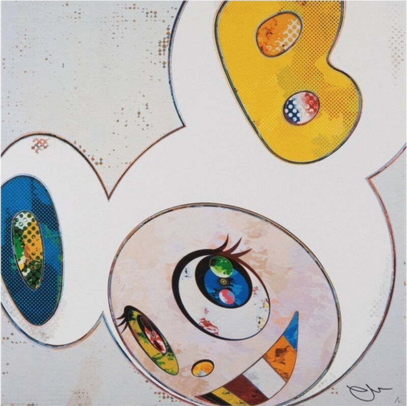 Takashi Murakami, 'AND THEN x6 (THE SUPERFLAT METHOD, BLUE AND YELLOW EARS)', 2013, Print, Offset lithograph on paper, Marcel Katz Art