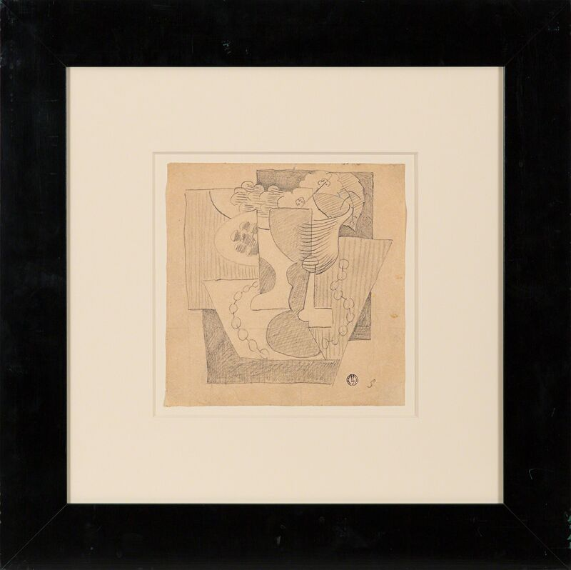 Leopold Survage, 'Nature Morte au Compotier', ca. 1919, Drawing, Collage or other Work on Paper, Pencil on paper, Rosenberg & Co.