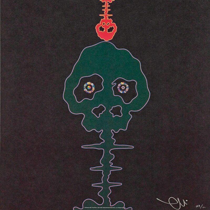 Takashi Murakami, 'Time Bokan - Black', 2001, Print, Offset print with cold stamp and high gloss varnish, Martin Lawrence Galleries