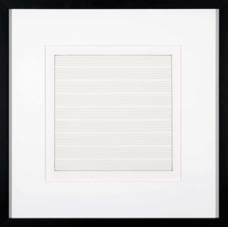 Agnes Martin, 'Untitled II', 1991, Print, Lithograph on vellum transparency paper, Addison Rowe Gallery